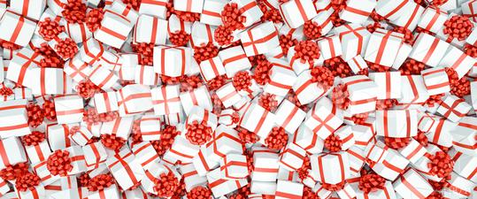 Gifts background for Christmas with many red bow, banner size  : Stock Photo or Stock Video Download rcfotostock photos, images and assets rcfotostock | RC-Photo-Stock.: