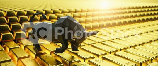 Gold bars, price of gold on the stock exchange is rising, Financial concept image, banner size  : Stock Photo or Stock Video Download rcfotostock photos, images and assets rcfotostock | RC-Photo-Stock.: