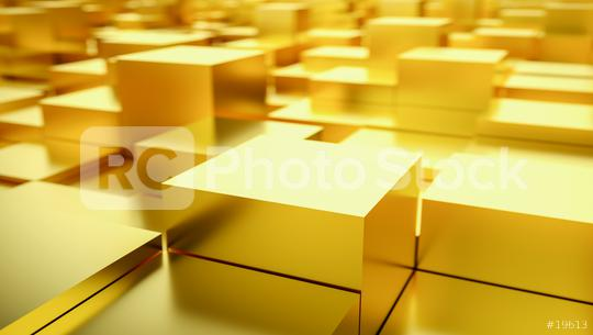 gold cubes grid, abstract background, 3D Photorealistic  : Stock Photo or Stock Video Download rcfotostock photos, images and assets rcfotostock | RC-Photo-Stock.: