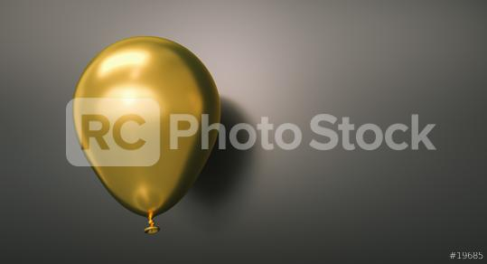 Golden Balloon against a black wall - 3D Rendering  : Stock Photo or Stock Video Download rcfotostock photos, images and assets rcfotostock | RC-Photo-Stock.: