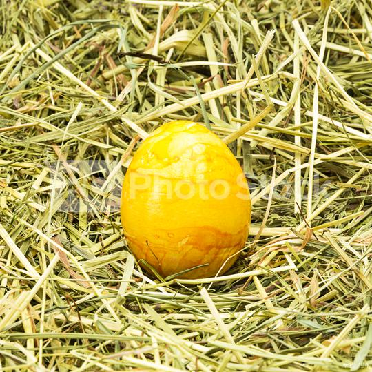 golden easter egg on hay  : Stock Photo or Stock Video Download rcfotostock photos, images and assets rcfotostock | RC-Photo-Stock.: