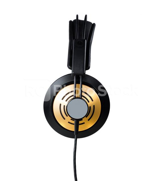 Golden Headphones  : Stock Photo or Stock Video Download rcfotostock photos, images and assets rcfotostock   RC-Photo-Stock.: