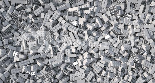 gray toy bricks background - 3D Rendering Illustration  : Stock Photo or Stock Video Download rcfotostock photos, images and assets rcfotostock | RC-Photo-Stock.: