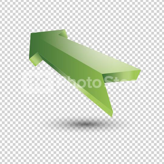 Green arrow. 3d shiny style rising up icon on checked transparent background. Vector illustration. Eps 10 vector file.  : Stock Photo or Stock Video Download rcfotostock photos, images and assets rcfotostock | RC-Photo-Stock.: