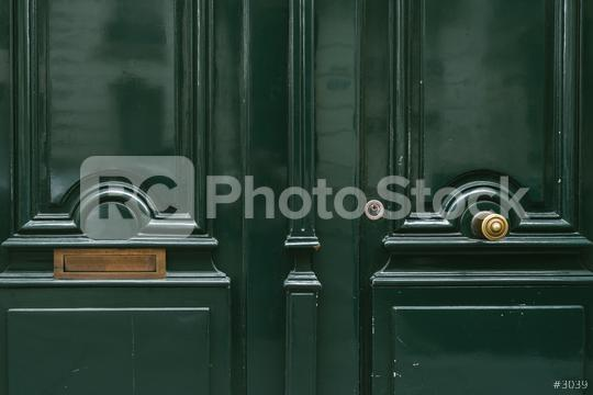 green old door with letter box  : Stock Photo or Stock Video Download rcfotostock photos, images and assets rcfotostock   RC-Photo-Stock.: