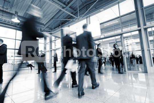 group of business people in the entrance of a International Trade Fair  : Stock Photo or Stock Video Download rcfotostock photos, images and assets rcfotostock   RC-Photo-Stock.: