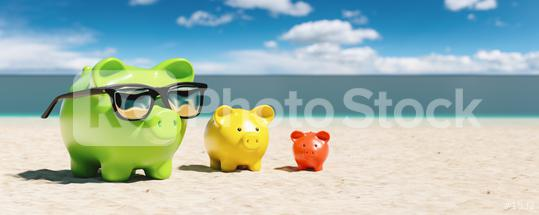 Growth chart of piggy bank at the beach during a summer vacation in the Caribbean  : Stock Photo or Stock Video Download rcfotostock photos, images and assets rcfotostock | RC-Photo-Stock.: