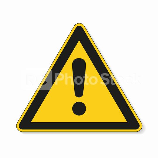 Hazard warning attention sign. Safety signs, warning Sign or Danger symbol BGV warning hazard warning exclamation mark symbol on white background. Vector illustration. Eps 10 vector file.  : Stock Photo or Stock Video Download rcfotostock photos, images and assets rcfotostock | RC-Photo-Stock.: