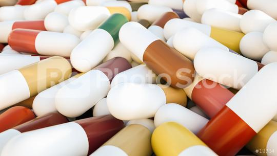 heap of medical capsule pills - 3D Rendering  : Stock Photo or Stock Video Download rcfotostock photos, images and assets rcfotostock | RC-Photo-Stock.: