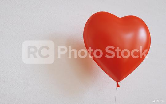 heart balloon on a wall - 3D Rendering  : Stock Photo or Stock Video Download rcfotostock photos, images and assets rcfotostock | RC-Photo-Stock.: