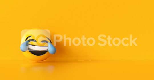 HHappy and crying emoji  background, social media and communications concept image, banner size, copyspace for your individual text.  : Stock Photo or Stock Video Download rcfotostock photos, images and assets rcfotostock | RC-Photo-Stock.: