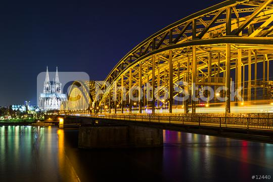 Hohenzollern bridge with Cologne Cathedral  : Stock Photo or Stock Video Download rcfotostock photos, images and assets rcfotostock | RC-Photo-Stock.: