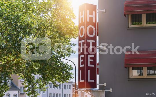 Hotel sign on a building  : Stock Photo or Stock Video Download rcfotostock photos, images and assets rcfotostock | RC-Photo-Stock.:
