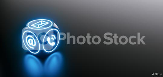 Hotline support contact communication cube concept with icons  : Stock Photo or Stock Video Download rcfotostock photos, images and assets rcfotostock | RC-Photo-Stock.:
