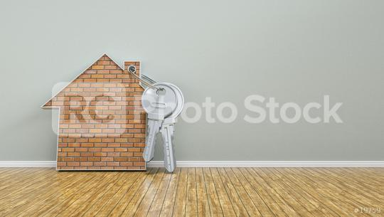 house and keys leaning on wall as mortgage financing concept - 3D Rendering  : Stock Photo or Stock Video Download rcfotostock photos, images and assets rcfotostock | RC-Photo-Stock.: