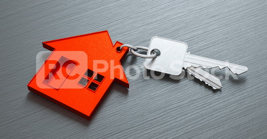 House as a pendant on a key on dark table as a house purchase and housing concept  : Stock Photo or Stock Video Download rcfotostock photos, images and assets rcfotostock | RC-Photo-Stock.: