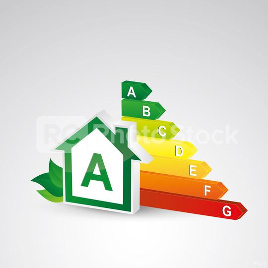 House energy class certification A, 3d design. Vector illustration. Eps 10 vector file.  : Stock Photo or Stock Video Download rcfotostock photos, images and assets rcfotostock | RC-Photo-Stock.: