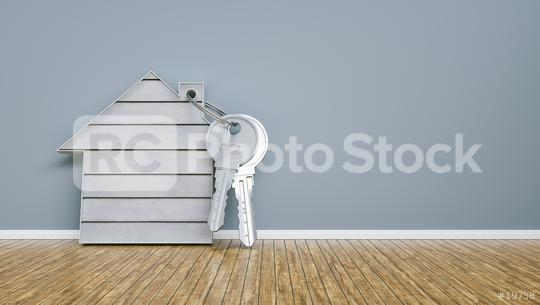 house with concrete and keys leaning on wall, financing concept - 3D Rendering  : Stock Photo or Stock Video Download rcfotostock photos, images and assets rcfotostock | RC-Photo-Stock.: