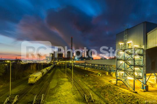 industrial Power Plant on sunset  : Stock Photo or Stock Video Download rcfotostock photos, images and assets rcfotostock   RC-Photo-Stock.: