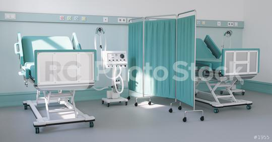 Intensive care bed with ventilator for Covid-19 patient in clinic with coronavirus epidemic  : Stock Photo or Stock Video Download rcfotostock photos, images and assets rcfotostock | RC-Photo-Stock.: