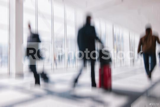 Intentionally blurred commuters in a airport background  : Stock Photo or Stock Video Download rcfotostock photos, images and assets rcfotostock   RC-Photo-Stock.: