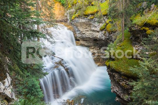 Johnston Canyon Upper Falls at banff canada  : Stock Photo or Stock Video Download rcfotostock photos, images and assets rcfotostock | RC-Photo-Stock.:
