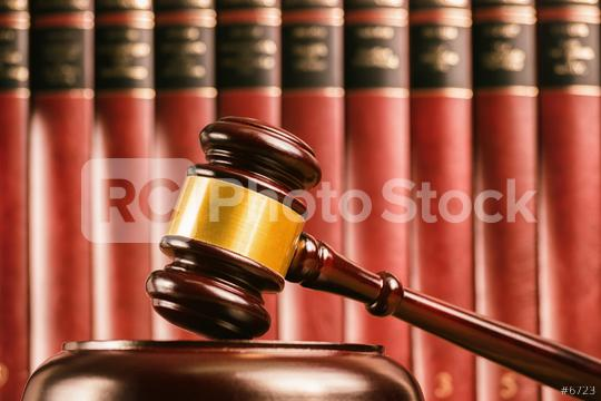 Judge gavel with defocussed law books behind  : Stock Photo or Stock Video Download rcfotostock photos, images and assets rcfotostock | RC-Photo-Stock.: