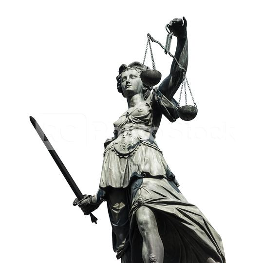 justice - justizia on white background  : Stock Photo or Stock Video Download rcfotostock photos, images and assets rcfotostock | RC-Photo-Stock.: