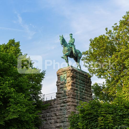 kaiser Wilhelm II equestrian statue at the Hohenzollern bridge  : Stock Photo or Stock Video Download rcfotostock photos, images and assets rcfotostock | RC-Photo-Stock.:
