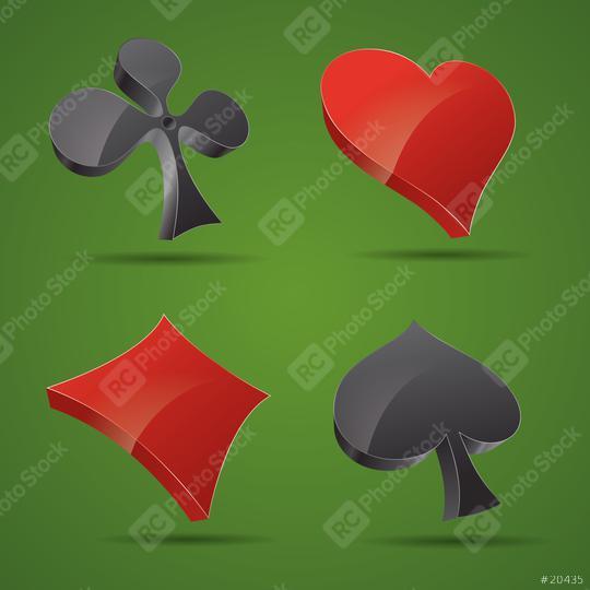 Kartenspiel Symbole icons Vektorillustration Vektor Set  : Stock Photo or Stock Video Download rcfotostock photos, images and assets rcfotostock | RC-Photo-Stock.: