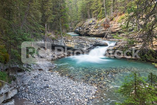 kaskade on the Johnston Canyon trail at the banff national park canada  : Stock Photo or Stock Video Download rcfotostock photos, images and assets rcfotostock | RC-Photo-Stock.:
