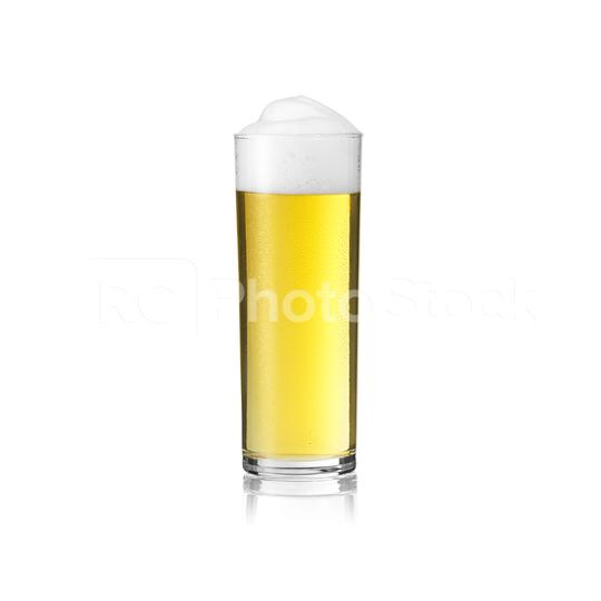 Kölsch beer glass carnival dom with foam crown on white background with reflection exempted  : Stock Photo or Stock Video Download rcfotostock photos, images and assets rcfotostock | RC-Photo-Stock.: