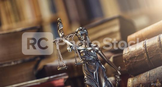Lady Justice Statue in a courtroom  : Stock Photo or Stock Video Download rcfotostock photos, images and assets rcfotostock | RC-Photo-Stock.: