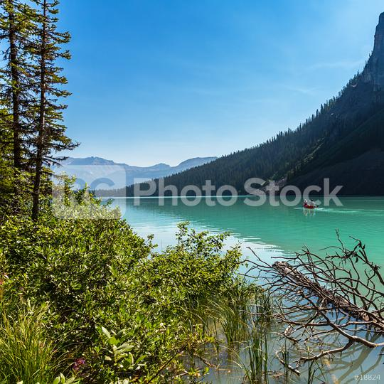 Lake Louise Canoe tour at the banff national park canada  : Stock Photo or Stock Video Download rcfotostock photos, images and assets rcfotostock | RC-Photo-Stock.: