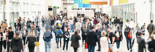 large crowd of anonymous blurred people at a trade fair  : Stock Photo or Stock Video Download rcfotostock photos, images and assets rcfotostock   RC-Photo-Stock.:
