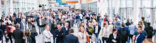 large crowd of anonymous blurred people at a trade show  : Stock Photo or Stock Video Download rcfotostock photos, images and assets rcfotostock | RC-Photo-Stock.: