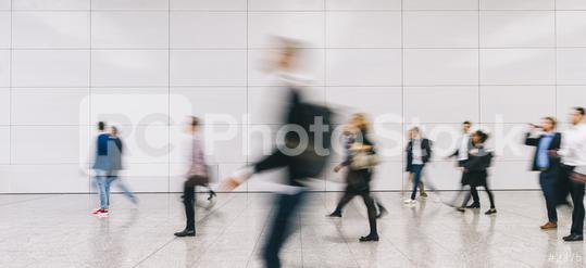 large Crowd of anonymous people walking on a trade fair, banner size  : Stock Photo or Stock Video Download rcfotostock photos, images and assets rcfotostock | RC-Photo-Stock.: