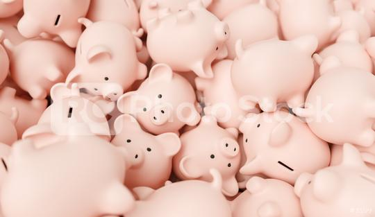 Large group of piggy banks  : Stock Photo or Stock Video Download rcfotostock photos, images and assets rcfotostock | RC-Photo-Stock.: