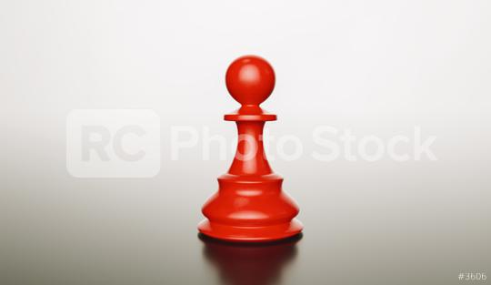 Leadership concept, red pawn of chess, standing. 3d illustration, 3d rendering  : Stock Photo or Stock Video Download rcfotostock photos, images and assets rcfotostock | RC-Photo-Stock.: