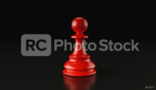 Leadership concept, red pawn of chess, standing against black background. 3d illustration, 3d rendering  : Stock Photo or Stock Video Download rcfotostock photos, images and assets rcfotostock | RC-Photo-Stock.: