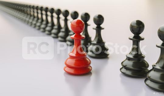 Leadership concept, red pawn of chess, standing out from the crowd of blacks  : Stock Photo or Stock Video Download rcfotostock photos, images and assets rcfotostock   RC-Photo-Stock.: