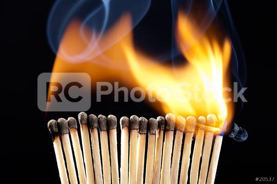 Line of burning matches  : Stock Photo or Stock Video Download rcfotostock photos, images and assets rcfotostock | RC-Photo-Stock.: