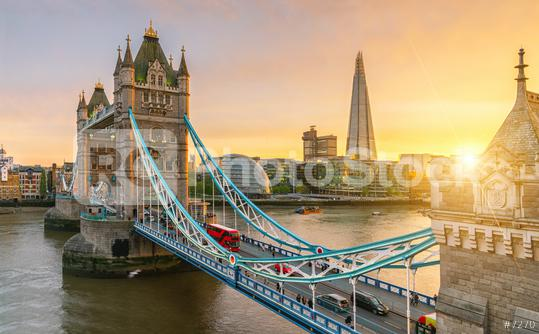 London Tower Bridge, the UK. Sunset with beautiful clouds  : Stock Photo or Stock Video Download rcfotostock photos, images and assets rcfotostock | RC-Photo-Stock.: