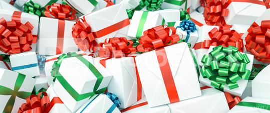 Lots of different gifts with colorful bows for Christmas in one big pile  : Stock Photo or Stock Video Download rcfotostock photos, images and assets rcfotostock | RC-Photo-Stock.: