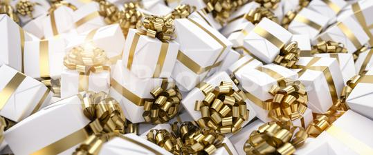 Lots of different luxury gifts for Christmas in one big pile  : Stock Photo or Stock Video Download rcfotostock photos, images and assets rcfotostock | RC-Photo-Stock.: