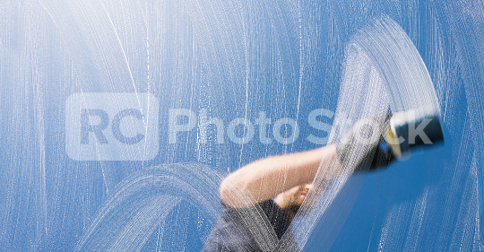 man with gloves cleaning window with sponge and soap on a window  : Stock Photo or Stock Video Download rcfotostock photos, images and assets rcfotostock   RC-Photo-Stock.: