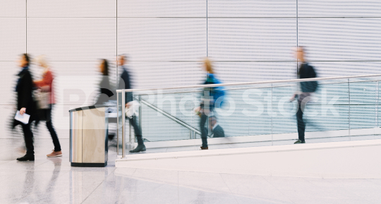 Many anonymous people as a visitor to a business trade fair  : Stock Photo or Stock Video Download rcfotostock photos, images and assets rcfotostock   RC-Photo-Stock.:
