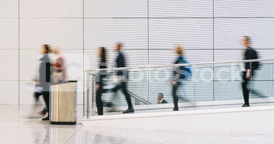 Many blurry anonymous business people go by airport or conference  : Stock Photo or Stock Video Download rcfotostock photos, images and assets rcfotostock | RC-Photo-Stock.: