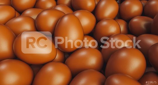 Many brown chocolate eggs for easter on a pile - 3D Rendering  : Stock Photo or Stock Video Download rcfotostock photos, images and assets rcfotostock | RC-Photo-Stock.: