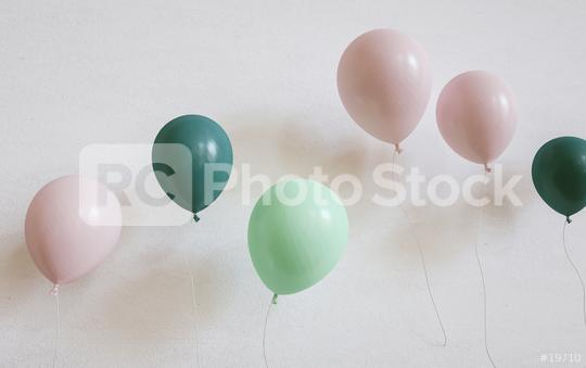 many colored ballons on a wall - 3D Rendering  : Stock Photo or Stock Video Download rcfotostock photos, images and assets rcfotostock | RC-Photo-Stock.: